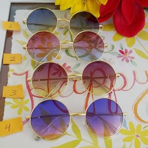 Accessories - Round tone transparent quality sunglasses